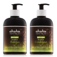 ahuhu kohevust andev komplekt – šampoon (500 ml) ja palsam (500 ml) kollageeniga