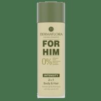 Dermaflora dušigeel-šampoon Aloe Vera ja Q10 meestele 200 ml